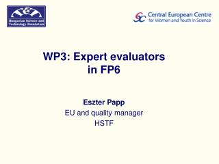 WP3: Expert evaluators in FP6