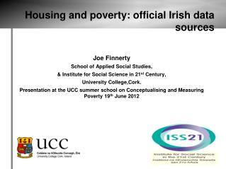 Housing and poverty: official Irish data sources