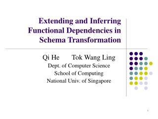 Extending and Inferring Functional Dependencies in Schema Transformation
