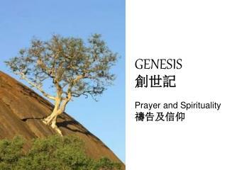 GENESIS 創世記 Prayer and Spirituality 禱告及信仰