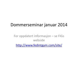 Dommerseminar januar 2014