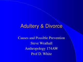 Adultery  Divorce