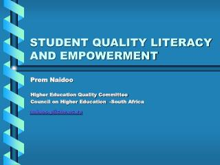 STUDENT QUALITY LITERACY AND EMPOWERMENT
