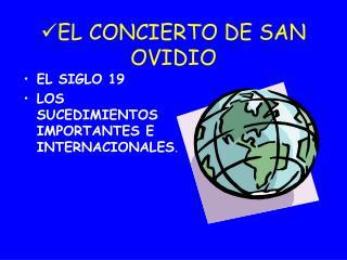 EL CONCIERTO DE SAN OVIDIO