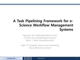 A Task Pipelining Framework for e-Science Workflow Management Systems