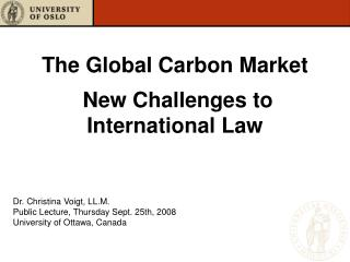 The Global Carbon Market   New Challenges to International Law