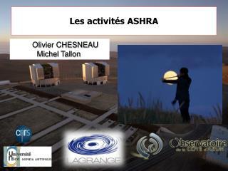 Les activités ASHRA
