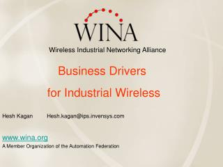 wina A Member Organization of the Automation Federation