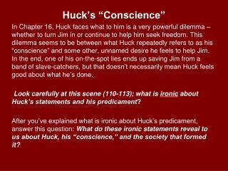 "Huck's ""Conscience"""