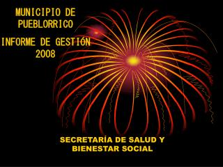 MUNICIPIO DE PUEBLORRICO INFORME DE GESTIÓN 2008