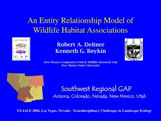 An Entity Relationship Model of Wildlife Habitat Associations