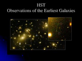 HST  Observations of the Earliest Galaxies
