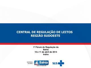 1º Fórum de Regulação da Bahia 10 e 11 de abril de 2014 Indira