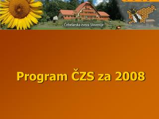 Program ČZS za 2008