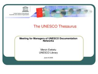 The UNESCO Thesaurus
