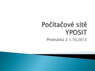 Počítačové sítě YPOSIT