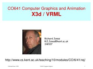 CO641 Computer Graphics and Animation X3d / VRML