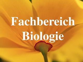Fachbereich Biologie
