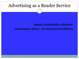 Advertising as a Reader Service