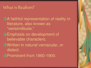 What is Realism?