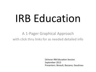 IRB Education