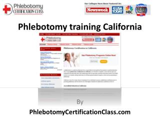 Phlebotomy Training California