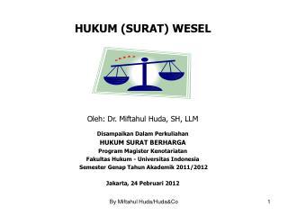 HUKUM (SURAT) WESEL