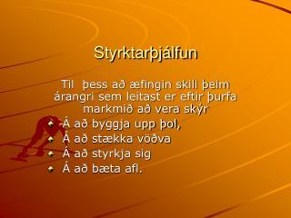Styrktarþjálfun