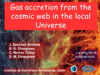 Gas accretion from the cosmic web in the local Universe