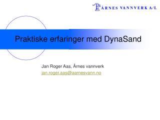 Praktiske erfaringer med DynaSand