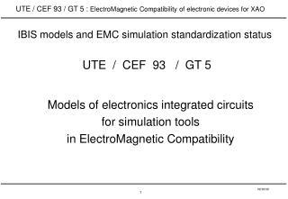 UTE  /  CEF  93   /  GT 5