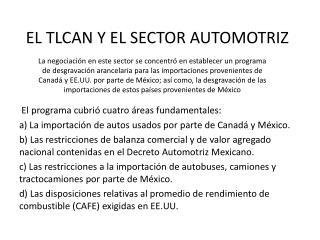 EL TLCAN Y EL SECTOR AUTOMOTRIZ