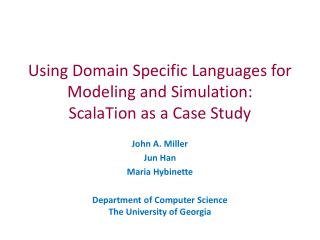 Using Domain Specific Languages for Modeling and Simulation: ScalaTion  as a Case Study