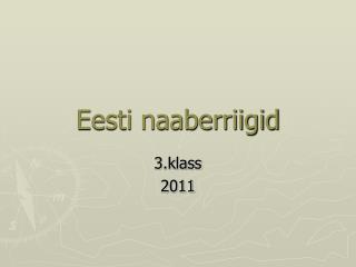 Eesti naaberriigid