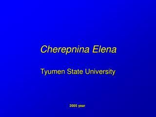 Cherepnina Elena