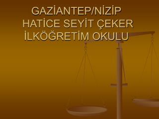 GAZİANTEP/NİZİP  HATİCE SEYİT ÇEKER İLKÖĞRETİM OKULU