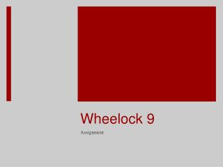 Wheelock 9