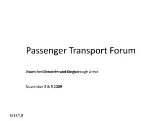 Passenger Transport Forum