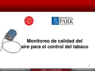 Monitoreo de calidad del  aire para el control del tabaco