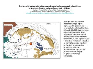 Geotermális vízáram és hőtranszport modellezés repedezett kőzetekben
