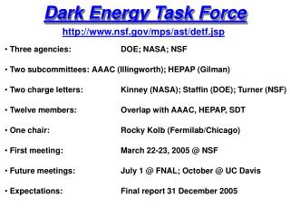 Dark Energy Task Force