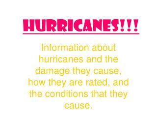 Hurricanes!!!