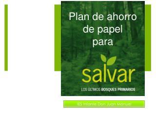 Plan de ahorro de papel  para