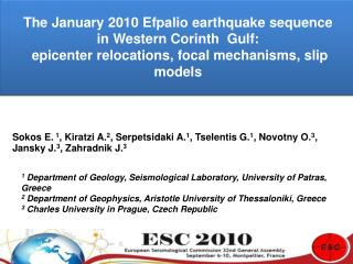 The January 2010 Efpalio earthquake sequence  in Western Corinth  Gulf: