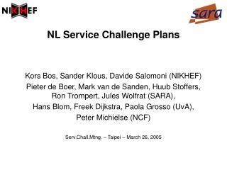NL Service Challenge Plans