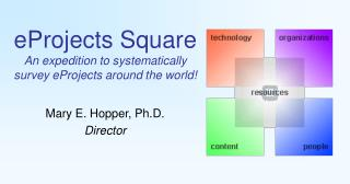eProjects Square An expedition to systematically survey eProjects around the world!