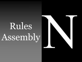 Rules Assembly