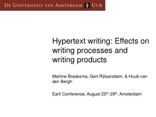 Hypertext writing: Effects on writing processes and writing products