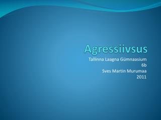 Agressiivsus