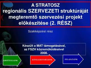 A STRATOSZ regionális SZERVEZETI struktúráját